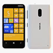 Nokia Lumia 620 Blanco modelo 3d