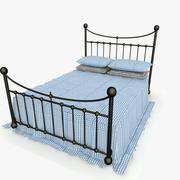 Metal Bed 2 Blue Sheet 3d model