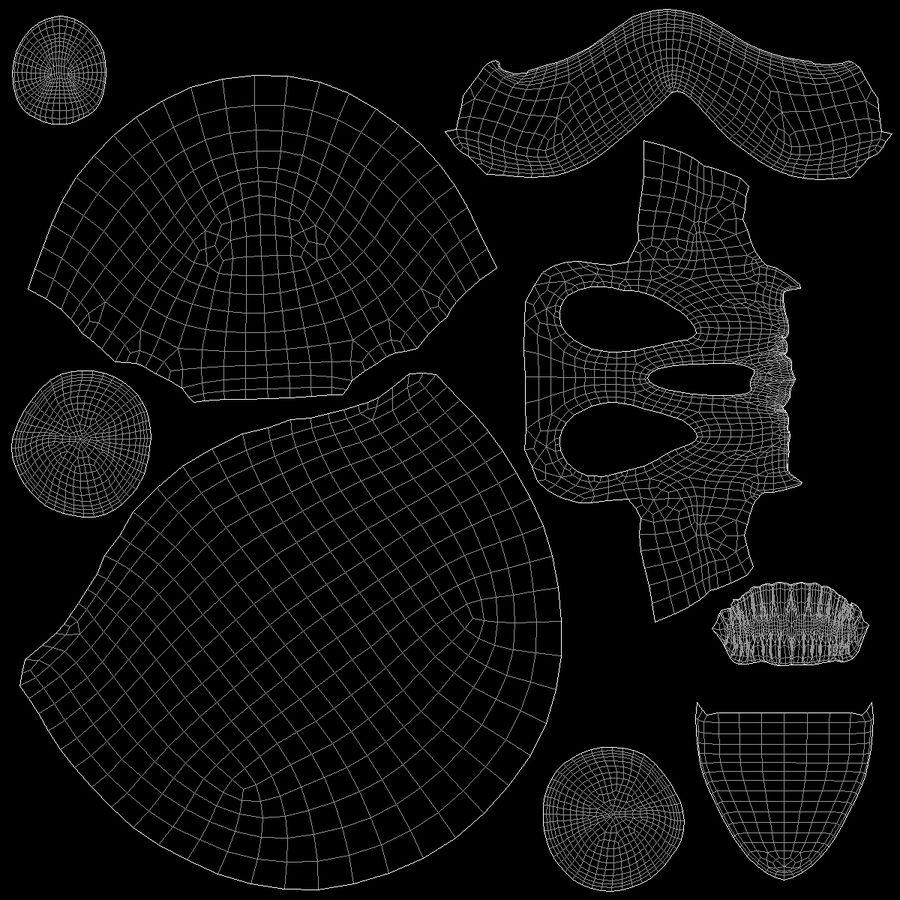 Skulls royalty-free 3d model - Preview no. 12