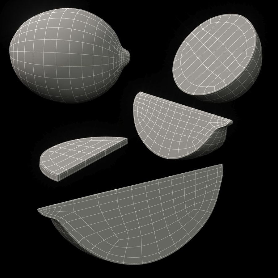 Limette royalty-free 3d model - Preview no. 7