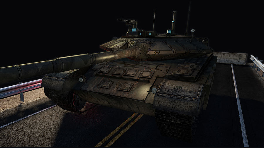 T-90 Tank (Game Ready) royalty-free 3d model - Preview no. 4