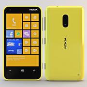 Nokia Lumia 620 желтый 3d model