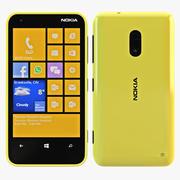 Nokia Lumia 620 Amarillo modelo 3d