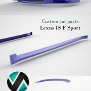 Lexus IS F sport car parts 3d model