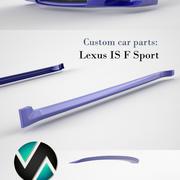 Lexus IS F sportwagen onderdelen 3d model