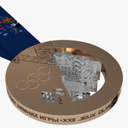 Olympic Bronze Medal Sochi 20 3d model