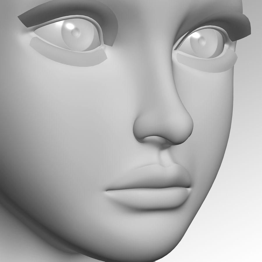 Meisje hoofd royalty-free 3d model - Preview no. 4