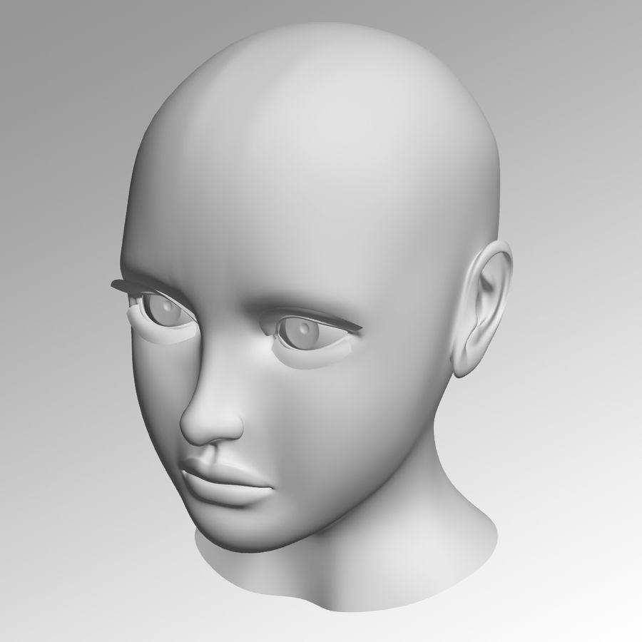 Meisje hoofd royalty-free 3d model - Preview no. 5