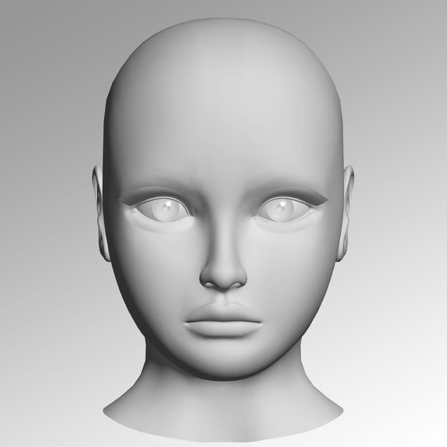 Meisje hoofd royalty-free 3d model - Preview no. 1