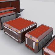 Ящик для грузов Sci Fi 3d model