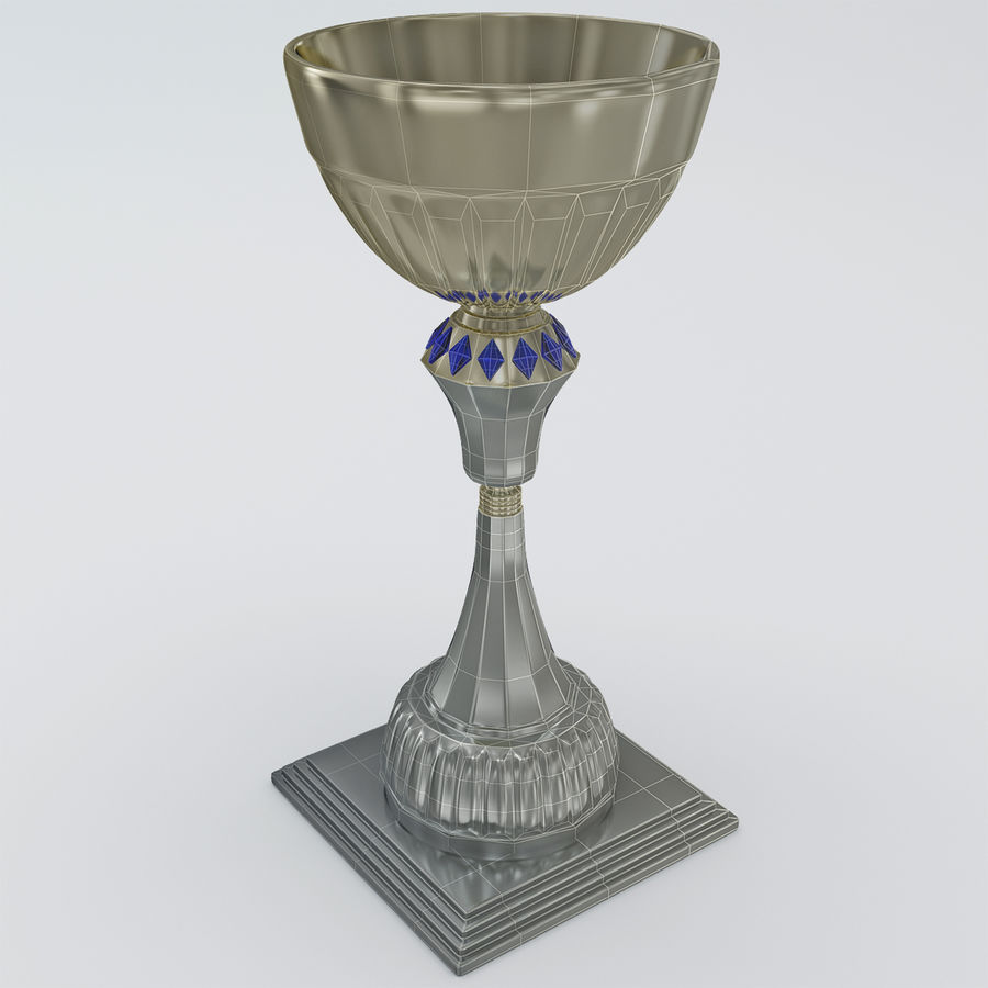 Sports Trophy royalty-free 3d model - Preview no. 9