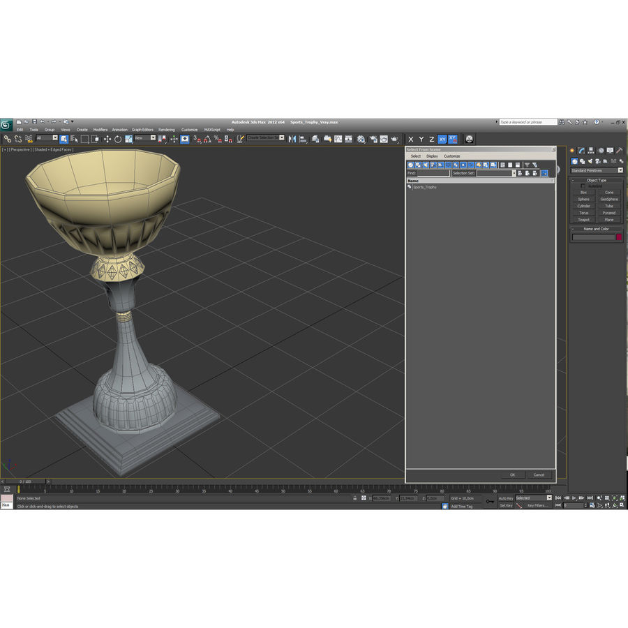 Sports Trophy royalty-free 3d model - Preview no. 19