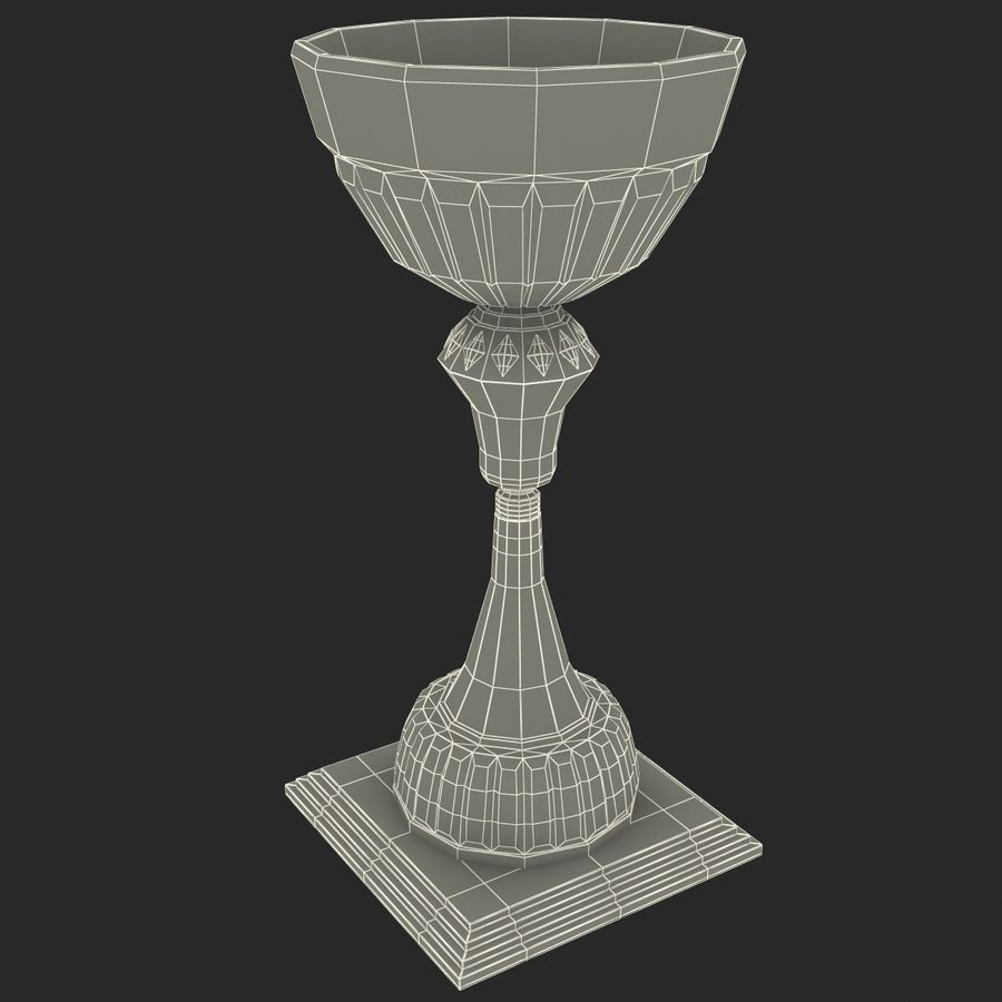 Sports Trophy royalty-free 3d model - Preview no. 11