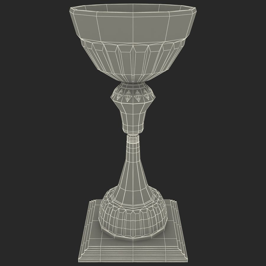 Sports Trophy royalty-free 3d model - Preview no. 13