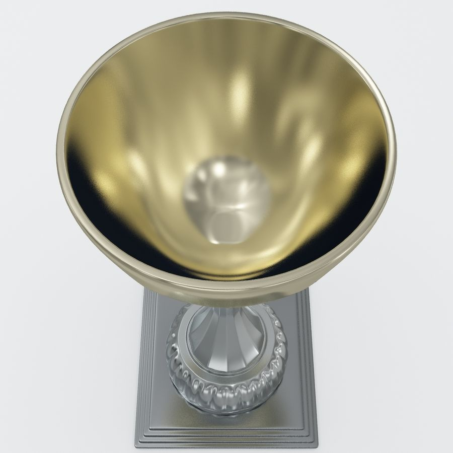Sports Trophy royalty-free 3d model - Preview no. 8