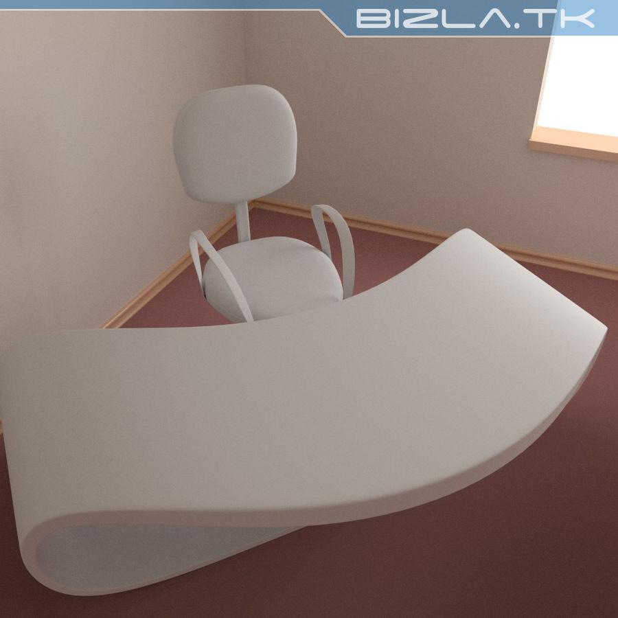 Escritorio y silla de oficina contemporáneos royalty-free modelo 3d - Preview no. 4