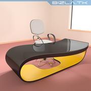 Современный офисный стол и стул 3d model