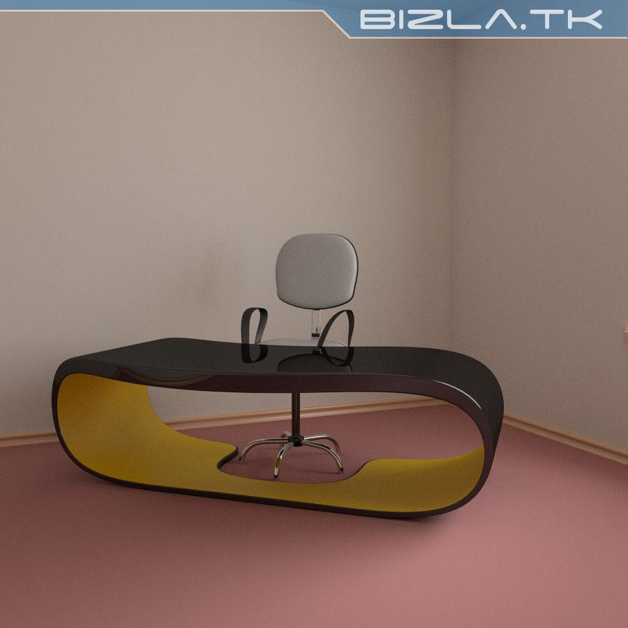 Escritorio y silla de oficina contemporáneos royalty-free modelo 3d - Preview no. 3