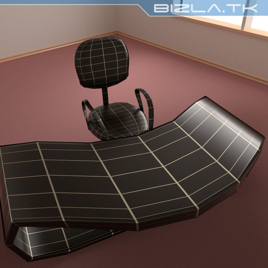 Escritorio y silla de oficina contemporáneos royalty-free modelo 3d - Preview no. 6