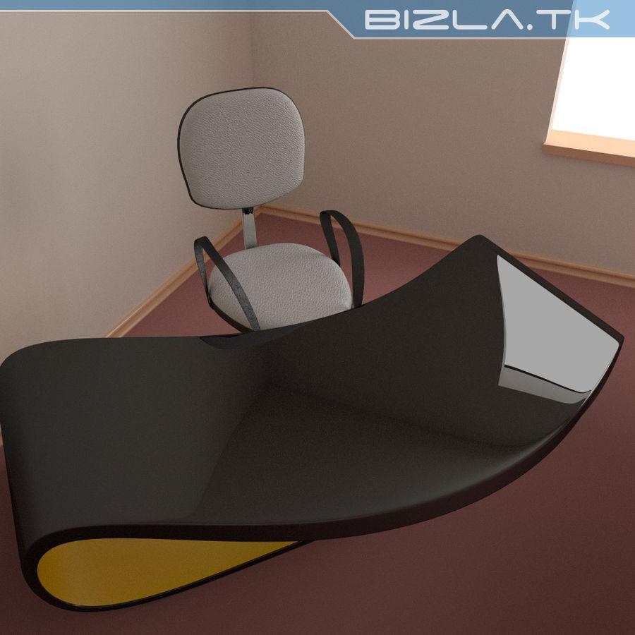 Escritorio y silla de oficina contemporáneos royalty-free modelo 3d - Preview no. 2