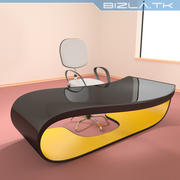 Contemporary Office Desk and Chair 3d model