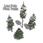 Collection d'arbres de pin 3d model