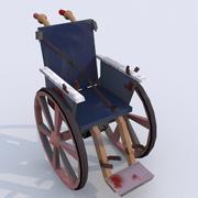 血腥轮椅紫外线映射 3d model