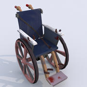 Bloody Wheelchair UV-mapped 3d model