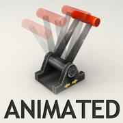 Alavanca animada 3d model