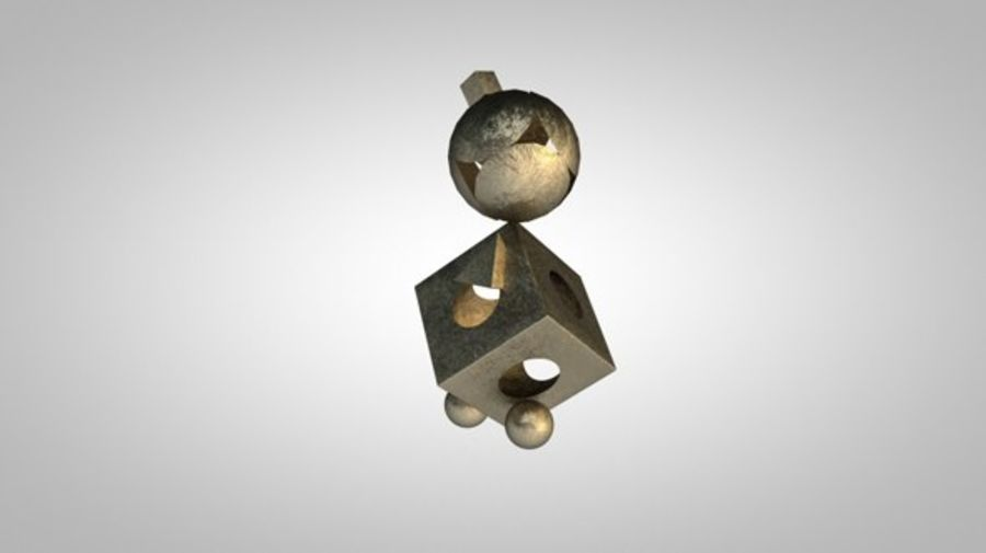 Синема 4д Бронза Материалы royalty-free 3d model - Preview no. 1