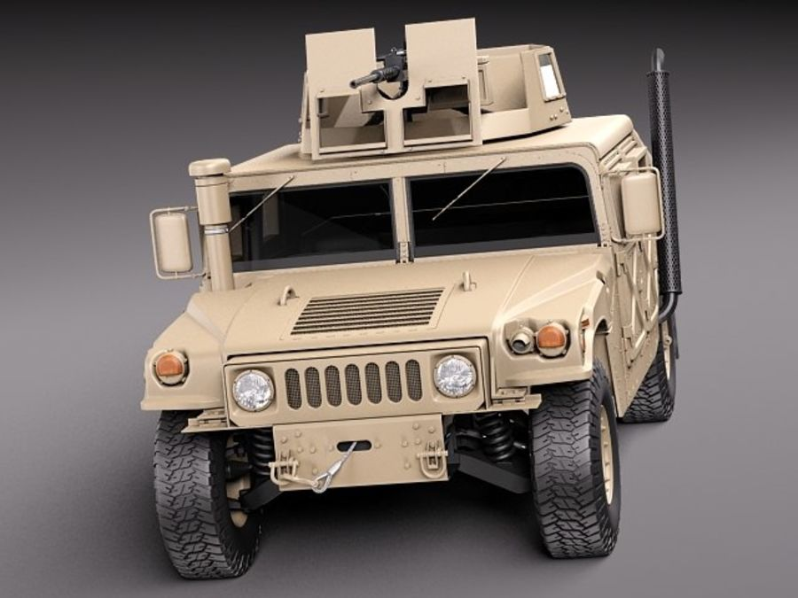 HMMWV Humvee Hummer Military Vechicle royalty-free 3d model - Preview no. 2