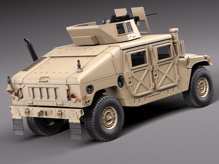 HMMWV Humvee Hummer Military Vechicle royalty-free 3d model - Preview no. 5
