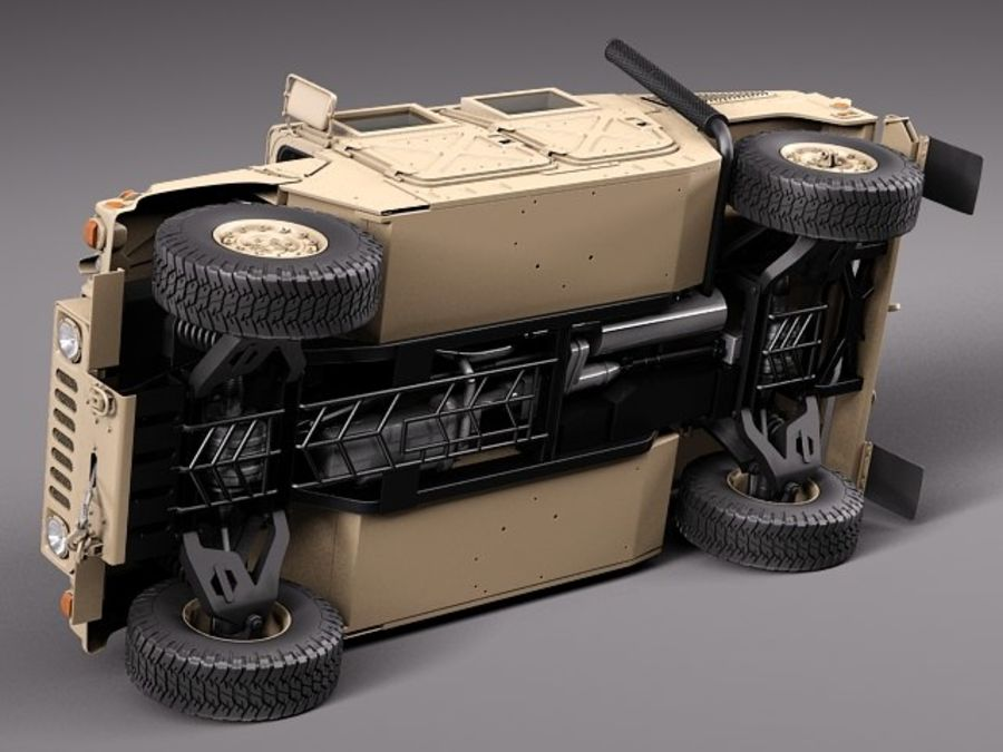HMMWV Humvee Hummer Military Vechicle royalty-free 3d model - Preview no. 9