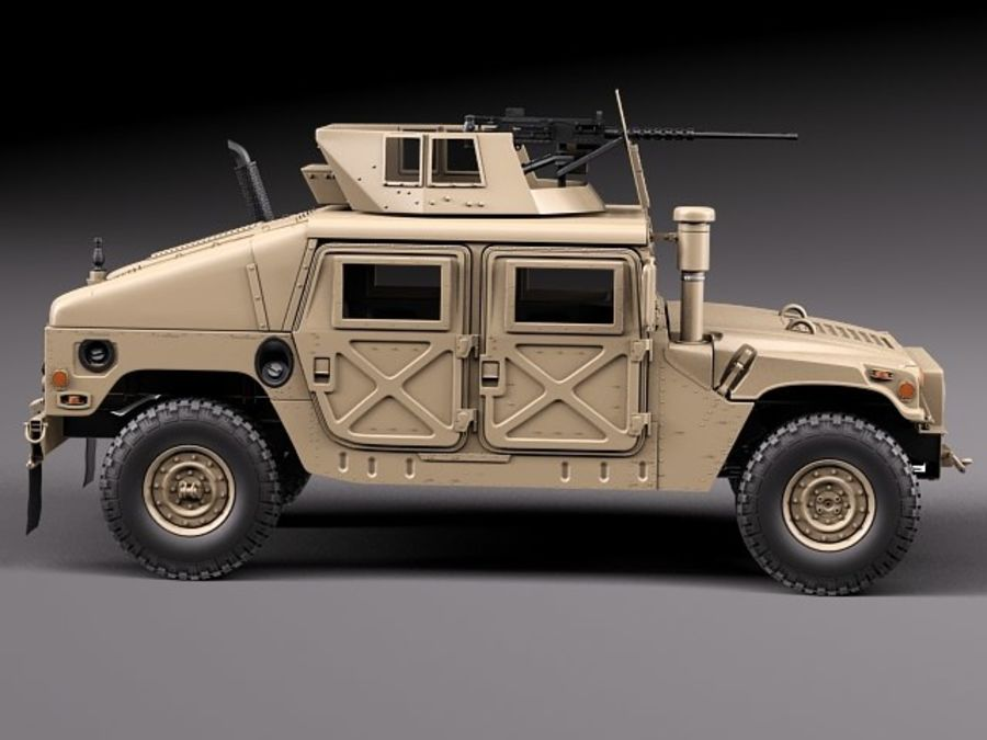 HMMWV Humvee Hummer Military Vechicle royalty-free 3d model - Preview no. 7