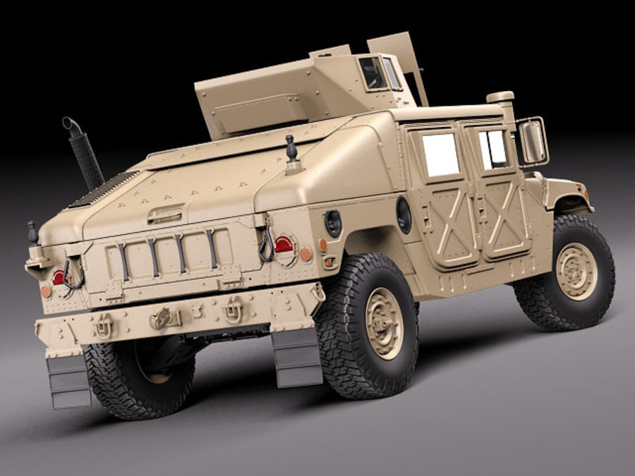 HMMWV Humvee Hummer Military Vechicle royalty-free 3d model - Preview no. 11