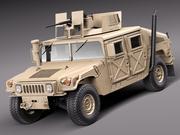 HMMWV Humvee Hummer Vechicle militar 3d model