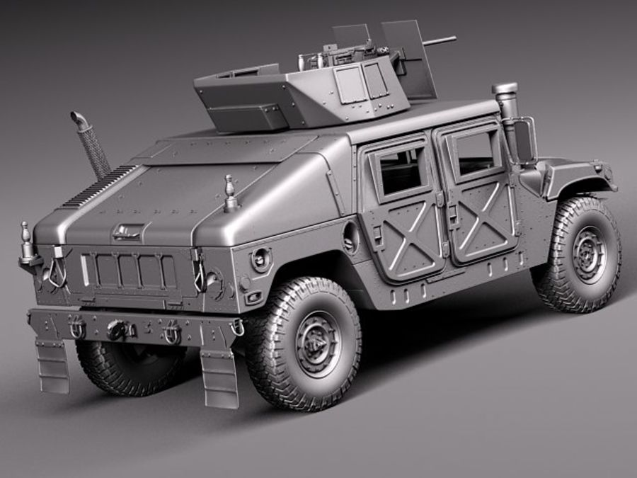 HMMWV Humvee Hummer Military Vechicle royalty-free 3d model - Preview no. 18