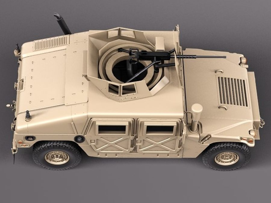HMMWV Humvee Hummer Military Vechicle royalty-free 3d model - Preview no. 8