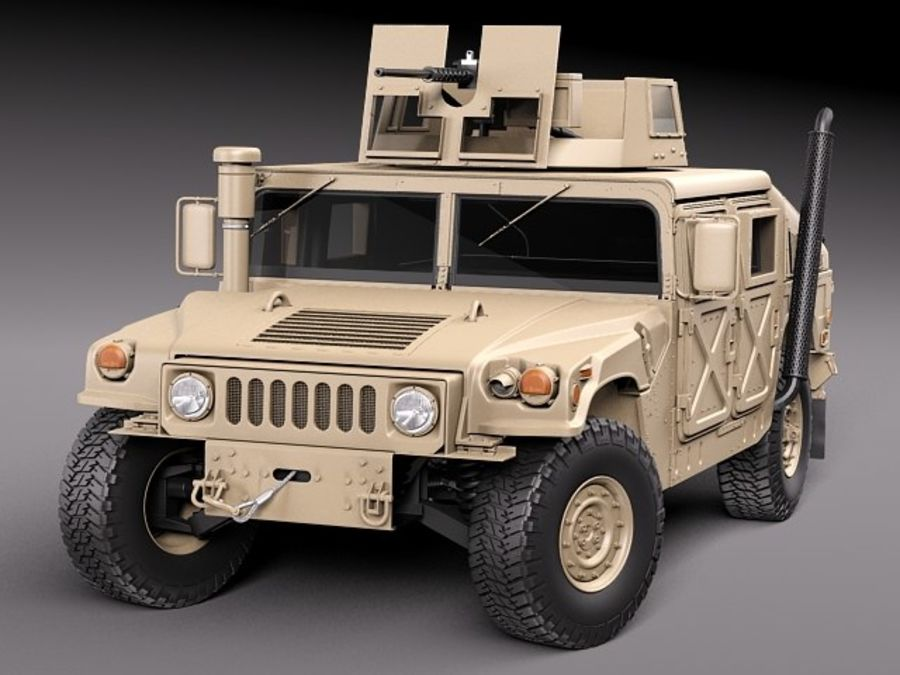 HMMWV Humvee Hummer Military Vechicle royalty-free 3d model - Preview no. 10
