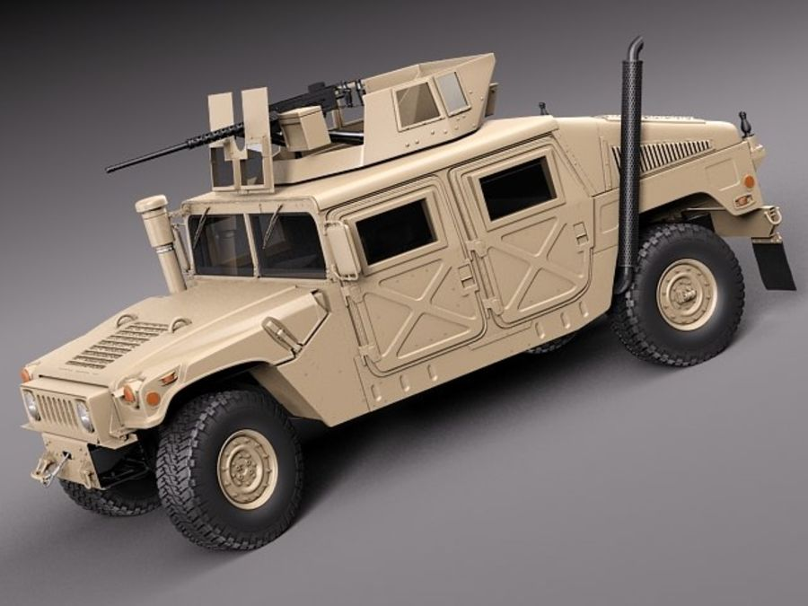 HMMWV Humvee Hummer Military Vechicle royalty-free 3d model - Preview no. 13