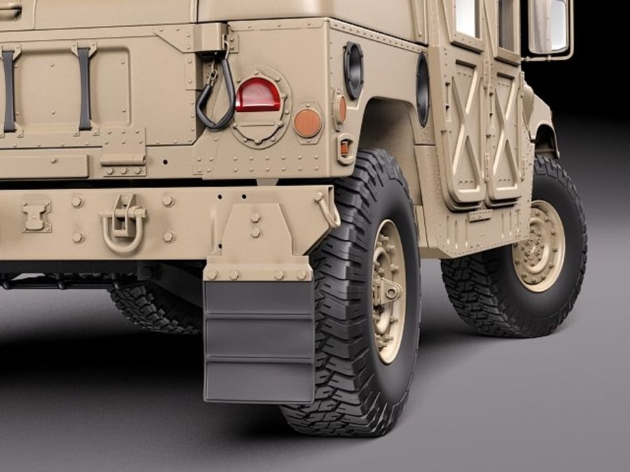 HMMWV Humvee Hummer Military Vechicle royalty-free 3d model - Preview no. 14