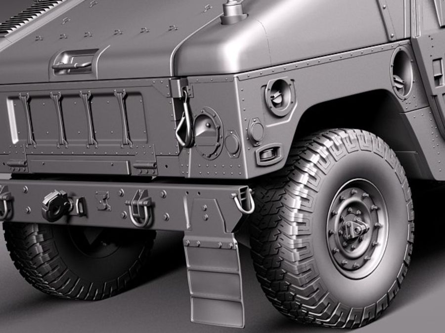 HMMWV Humvee Hummer Military Vechicle royalty-free 3d model - Preview no. 17