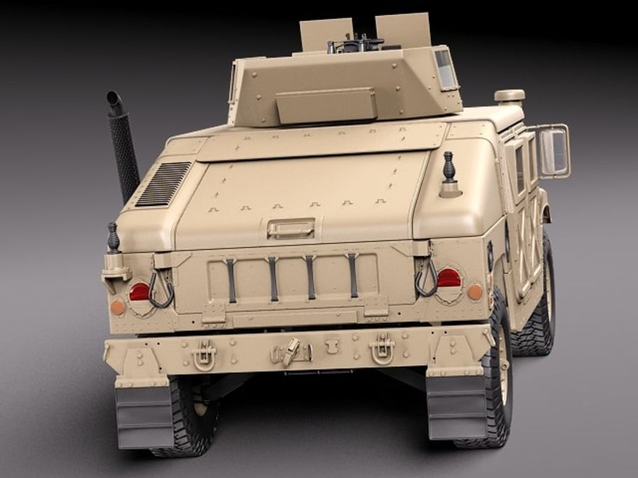 HMMWV Humvee Hummer Military Vechicle royalty-free 3d model - Preview no. 6