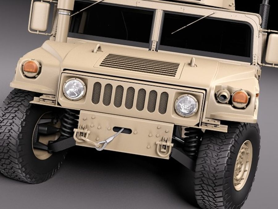 HMMWV Humvee Hummer Military Vechicle royalty-free 3d model - Preview no. 12