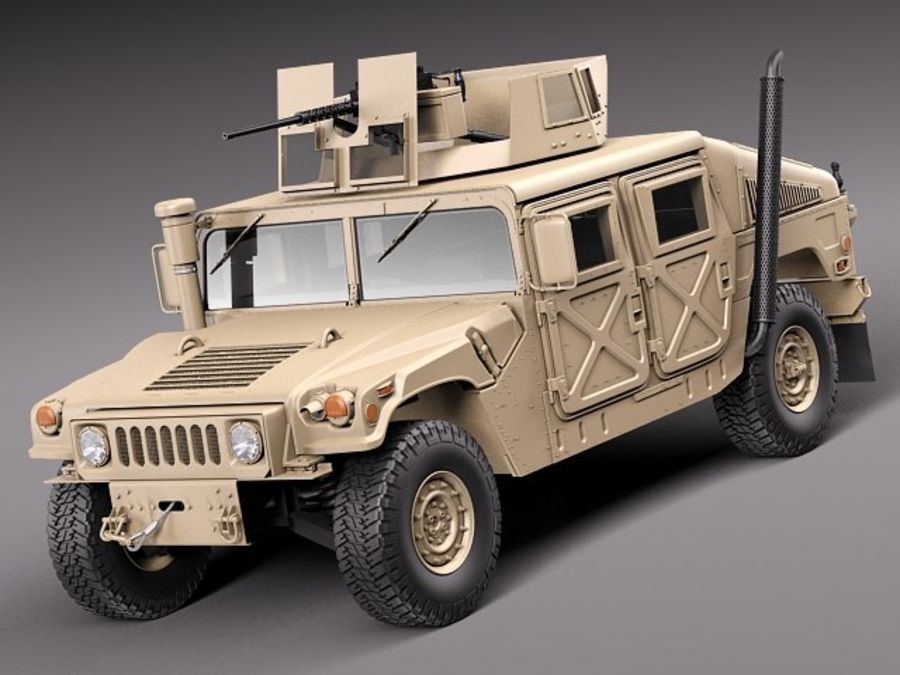 HMMWV Humvee Hummer Military Vechicle royalty-free 3d model - Preview no. 1