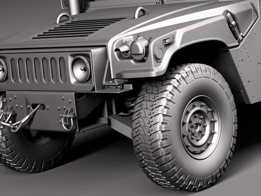 HMMWV Humvee Hummer Military Vechicle royalty-free 3d model - Preview no. 16