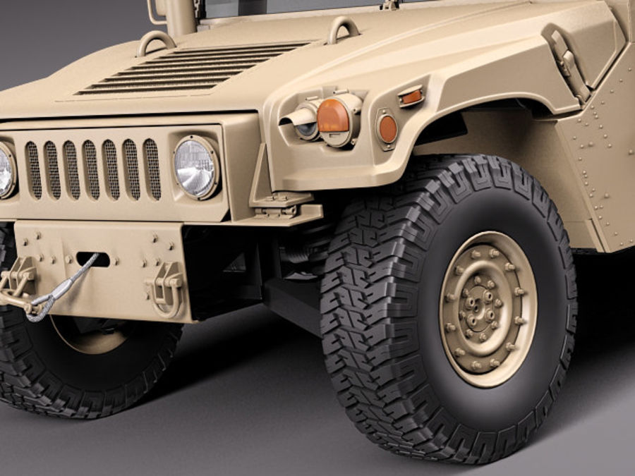 HMMWV Humvee Hummer Military Vechicle royalty-free 3d model - Preview no. 3