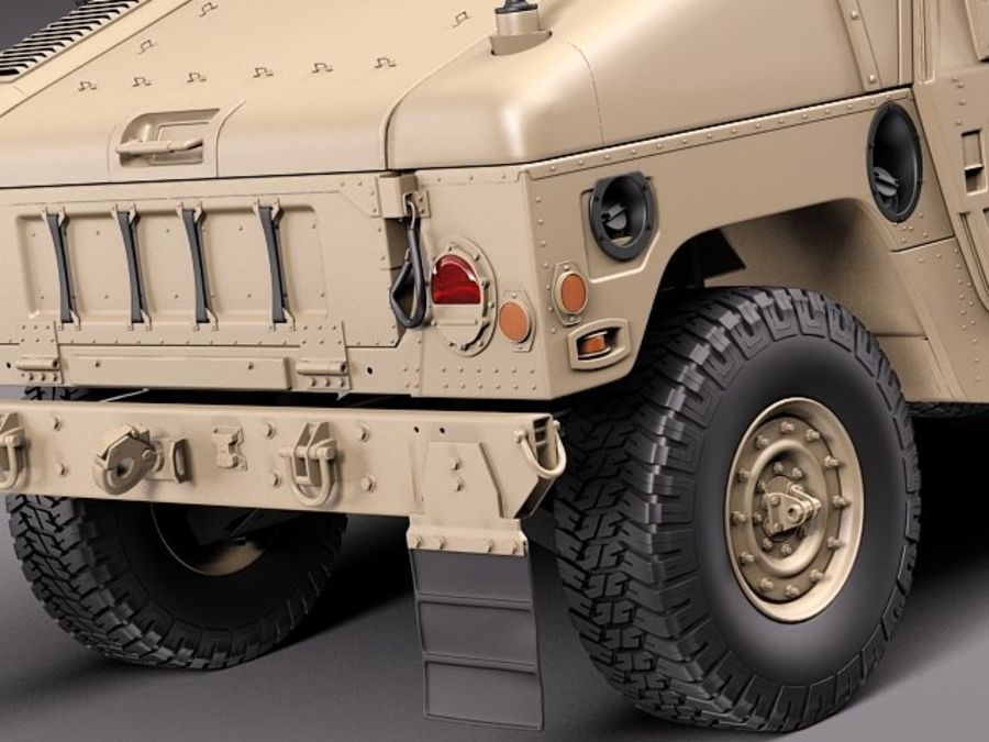 HMMWV Humvee Hummer Military Vechicle royalty-free 3d model - Preview no. 4