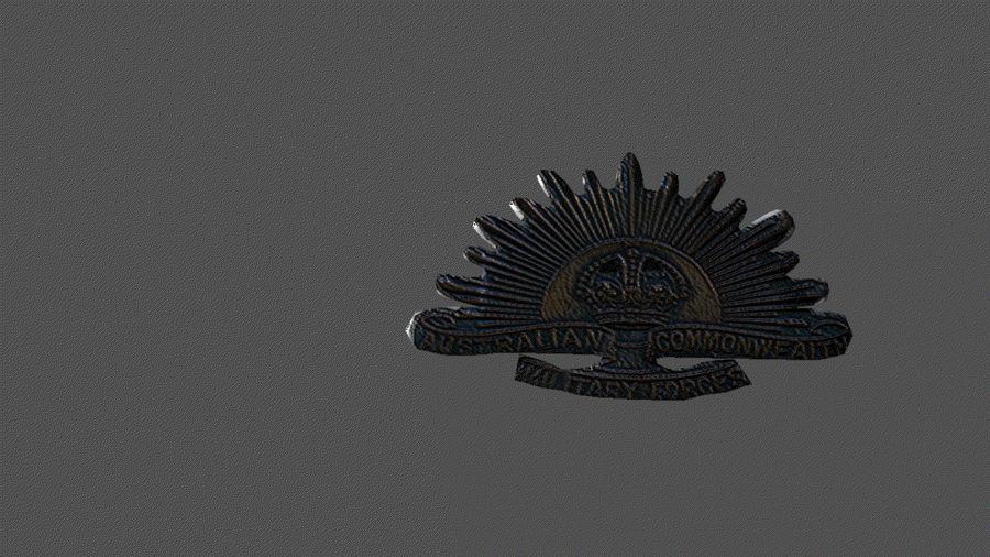 Odznaka australijskiego wschodzącego słońca royalty-free 3d model - Preview no. 1
