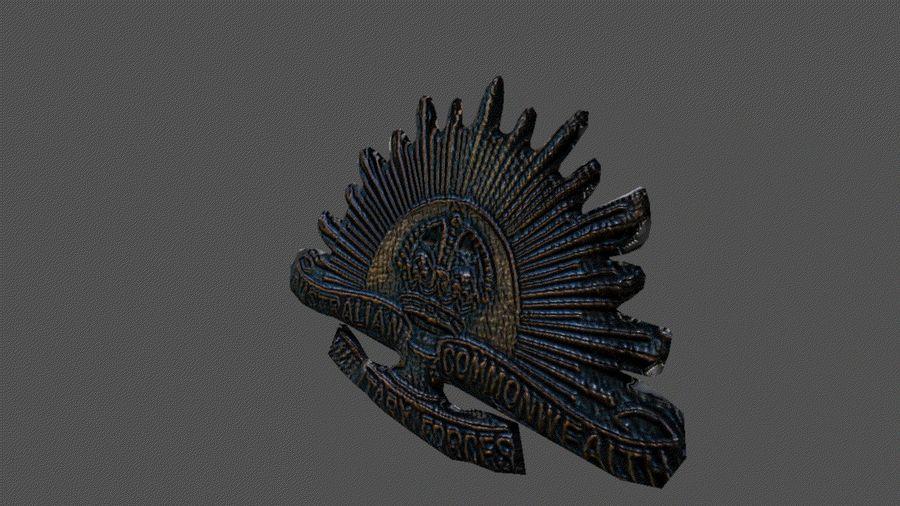 Odznaka australijskiego wschodzącego słońca royalty-free 3d model - Preview no. 2